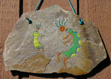 Kokopelli and his wife